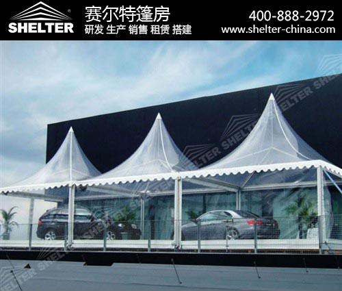 透明尖顶篷房